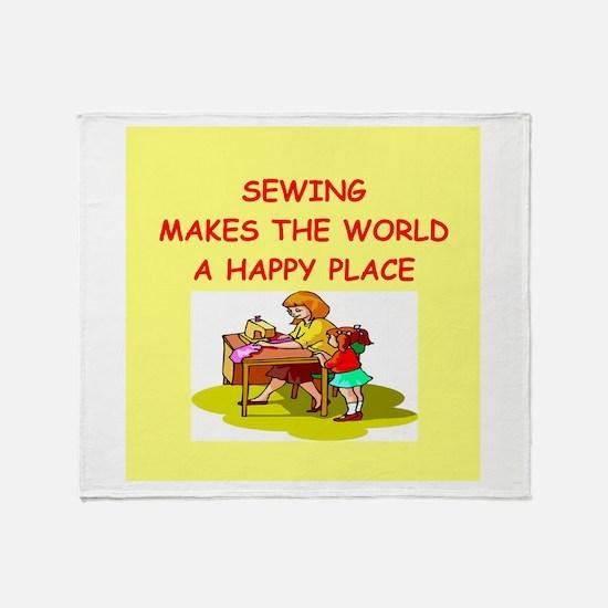sewing Throw Blanket