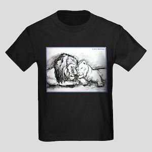 Lions,wildlife, art, Kids Dark T-Shirt