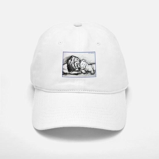 Lions,wildlife, art, Baseball Baseball Cap