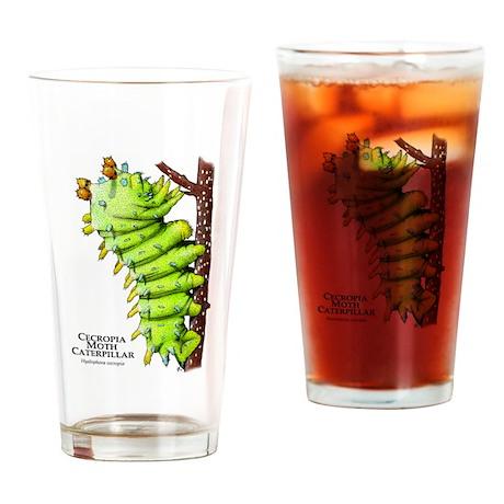 Cecropia Moth Caterpillar Drinking Glass
