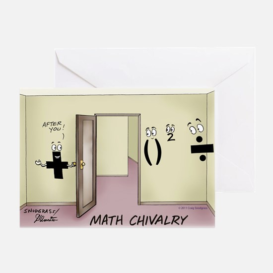 Math Chivalry Greeting Card