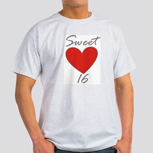 Sweet 16 in RED Ash Grey T-Shirt
