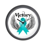 Victory Ovarian Cancer Wall Clock