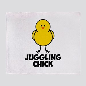 Juggling Chick Throw Blanket