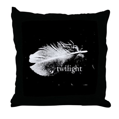 Twilight Feather Pillow by Twibaby Throw Pillow