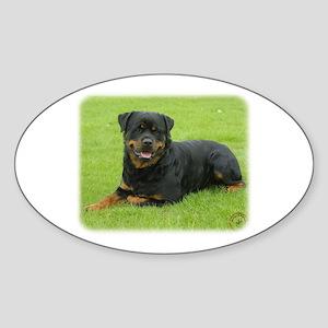 Rottweiler 9W025D-046 Sticker (Oval)