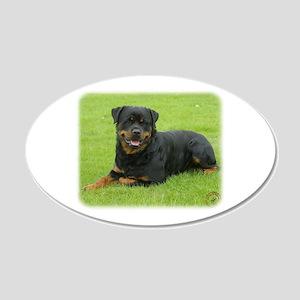 Rottweiler 9W025D-046 22x14 Oval Wall Peel