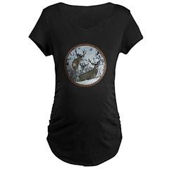 Buck deer in snow T-Shirt