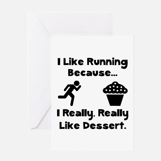 Running Dessert Greeting Card