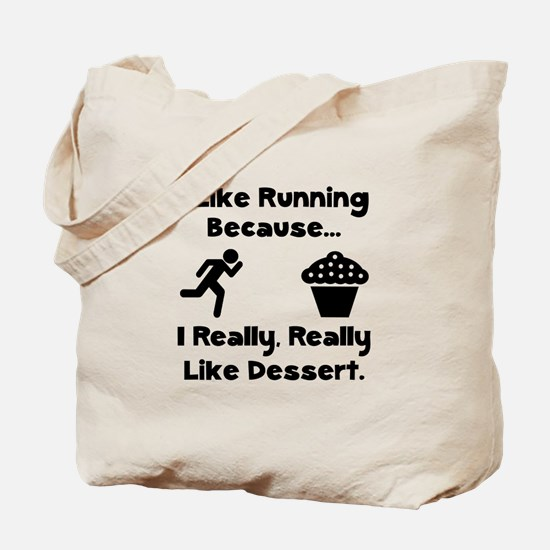 Running Dessert Tote Bag