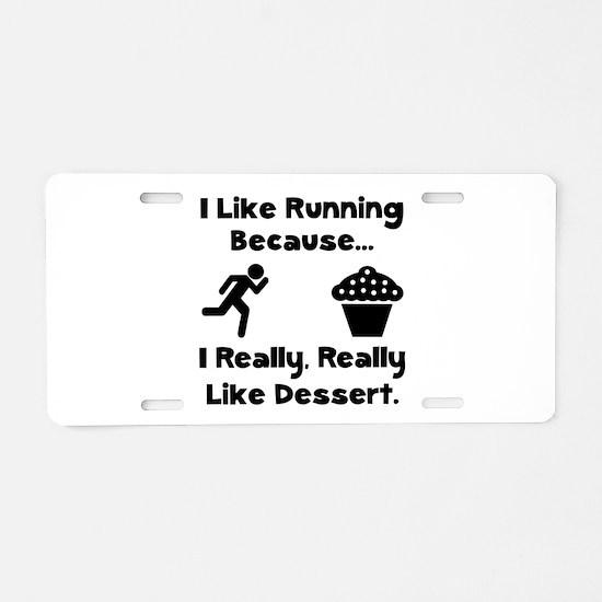 Running Dessert Aluminum License Plate