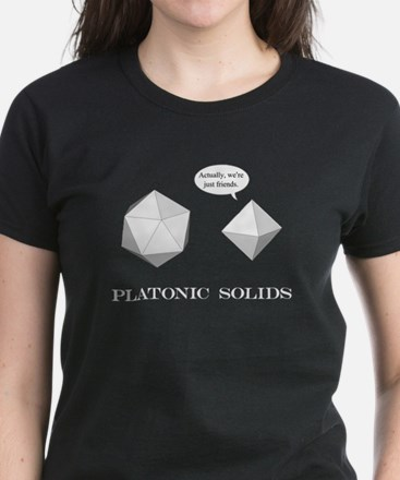 Platonic Solids Women's Dark T-Shirt
