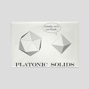 Platonic Solids Rectangle Magnet