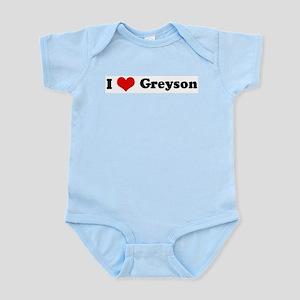I Love Greyson Infant Creeper