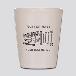 Wrenches with Text. Shot Glass
