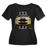 New Mustang GT Yellow Women's Plus Size Scoop Neck