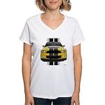 New Mustang GT Yellow Women's V-Neck T-Shirt