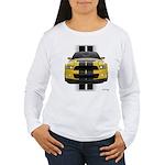 New Mustang GT Yellow Women's Long Sleeve T-Shirt