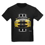 New Mustang GT Yellow Kids Dark T-Shirt