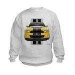 New Mustang GT Yellow Kids Sweatshirt