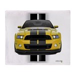 New Mustang GT Yellow Throw Blanket