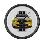 New Mustang GT Yellow Large Wall Clock