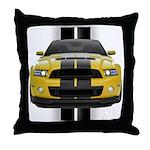 New Mustang GT Yellow Throw Pillow