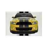New Mustang GT Yellow Rectangle Magnet (10 pack)