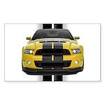 New Mustang GT Yellow Sticker (Rectangle 50 pk)