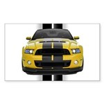 New Mustang GT Yellow Sticker (Rectangle 10 pk)