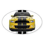 New Mustang GT Yellow Sticker (Oval 50 pk)