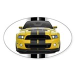 New Mustang GT Yellow Sticker (Oval)