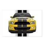 New Mustang GT Yellow Postcards (Package of 8)