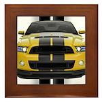 New Mustang GT Yellow Framed Tile