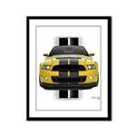 New Mustang GT Yellow Framed Panel Print