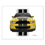 New Mustang GT Yellow Small Poster