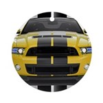 New Mustang GT Yellow Ornament (Round)