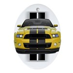 New Mustang GT Yellow Ornament (Oval)