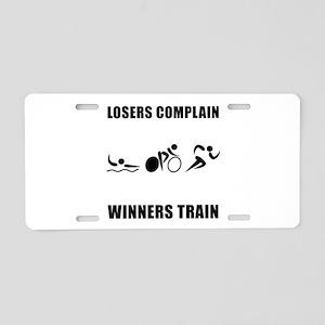 Triathlon Winners Train Aluminum License Plate
