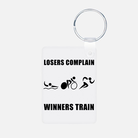 Triathlon Winners Train Keychains