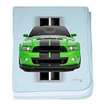 New Mustang Green baby blanket