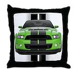 New Mustang Green Throw Pillow