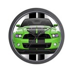 New Mustang Green Wall Clock