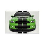 New Mustang Green Rectangle Magnet (10 pack)