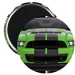 New Mustang Green Magnet