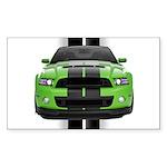 New Mustang Green Sticker (Rectangle 10 pk)