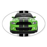 New Mustang Green Sticker (Oval 50 pk)