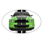 New Mustang Green Sticker (Oval 10 pk)