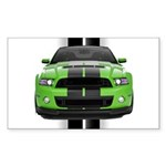 New Mustang Green Sticker (Rectangle)