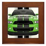 New Mustang Green Framed Tile